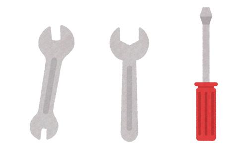 三つの安心「機材や工具は使用後に必ず洗浄し、人・物・共に清潔に保つようにしております。」